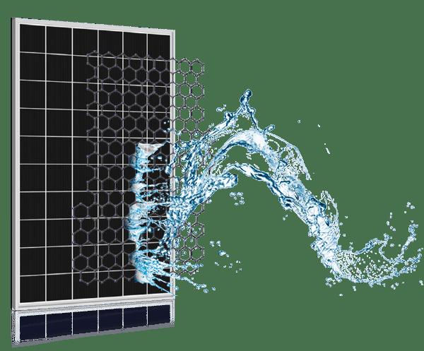 Panel fotowoltaiczny z powłoką hydrofobową, samoczyszczący